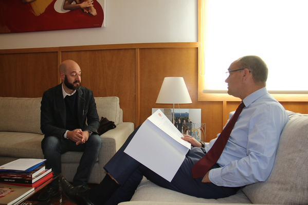 El rector de la Universitat d'Alacant i Joan Lluís Escoda
